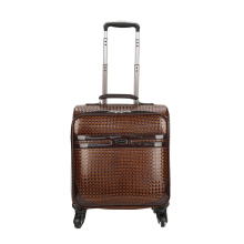 Brown PU animal skin boarding luggage